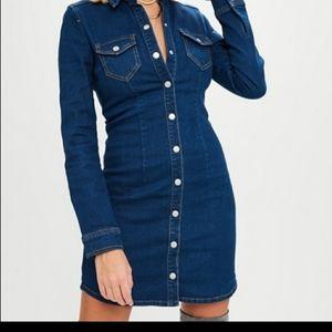 Missguided Denim button up dress